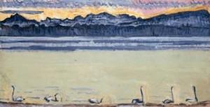 ⑬《白鳥のいるレマン湖とモンブラン》