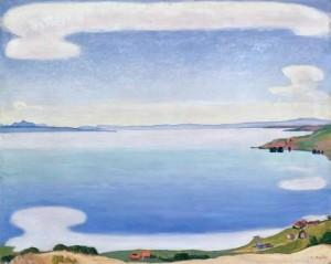 ⑦《シェーブルから見たレマン湖》