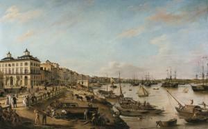 ピエール・ラクール(父) 《ボルドーの港と河岸の眺め(シャルトロン河岸とバカラン河岸)》 1804-06年 ボルドー美術館  ©Musée des Beaux-Arts - Mairie de Bordeaux. Cliché F. Deval.
