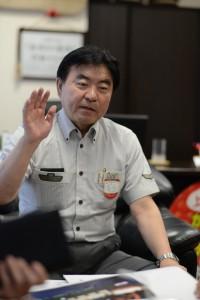 上野駅長室でインタビュー