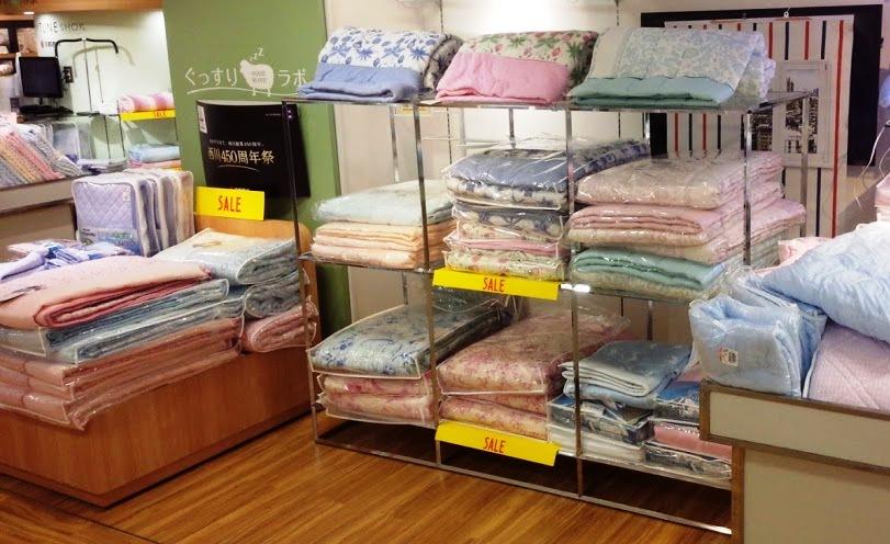 アイス眠肌掛布団8,424円(税込)など接触冷感寝具の特価品も取り揃えています。