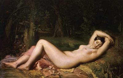 【《泉のほとりで眠るニンフ》1850年 CNAP(アヴィニョン、カルヴェ美術館に寄託)©Domaine public / Cnap /photo: Musée Calvet,Avignon,France】