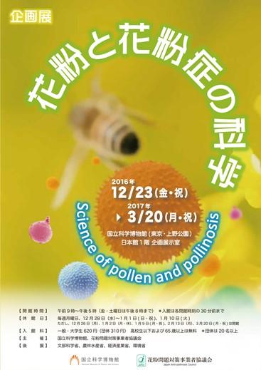 企画展「花粉と花粉症の科学」画像提供:国立科学博物館
