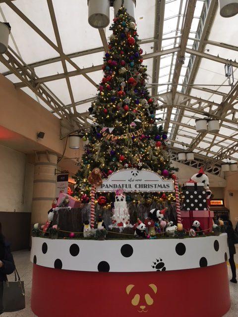 クリスマス、クリスマスツリー、上野駅、アトレ