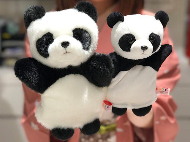 親子パンダのハンドパペット